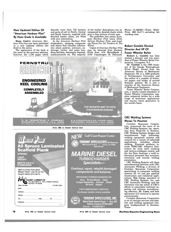 Maritime Reporter Magazine, page 18,  Nov 1983