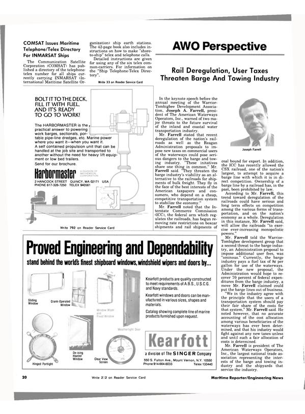Maritime Reporter Magazine, page 20,  Nov 1983