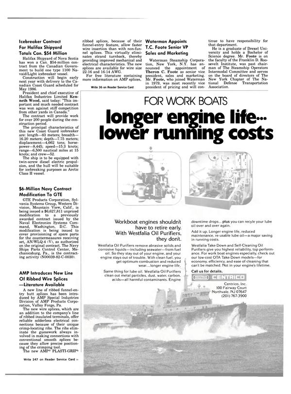 Maritime Reporter Magazine, page 21,  Nov 1983
