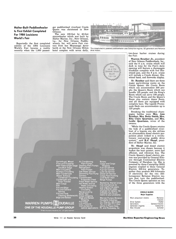 Maritime Reporter Magazine, page 32,  Nov 1983