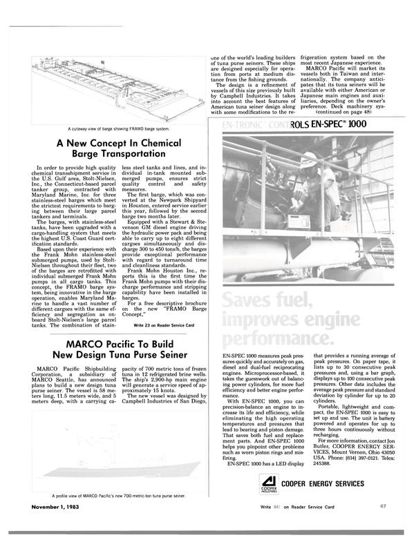 Maritime Reporter Magazine, page 45,  Nov 1983