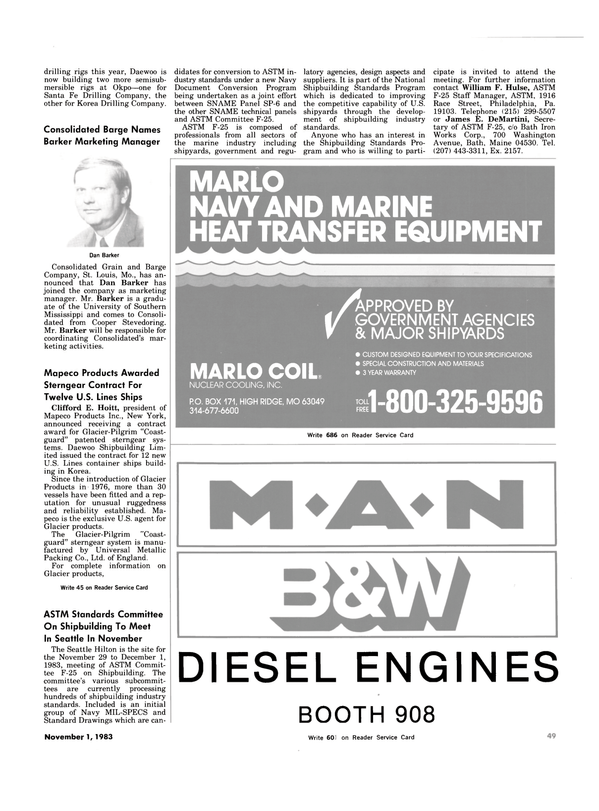 Maritime Reporter Magazine, page 47,  Nov 1983 Maine
