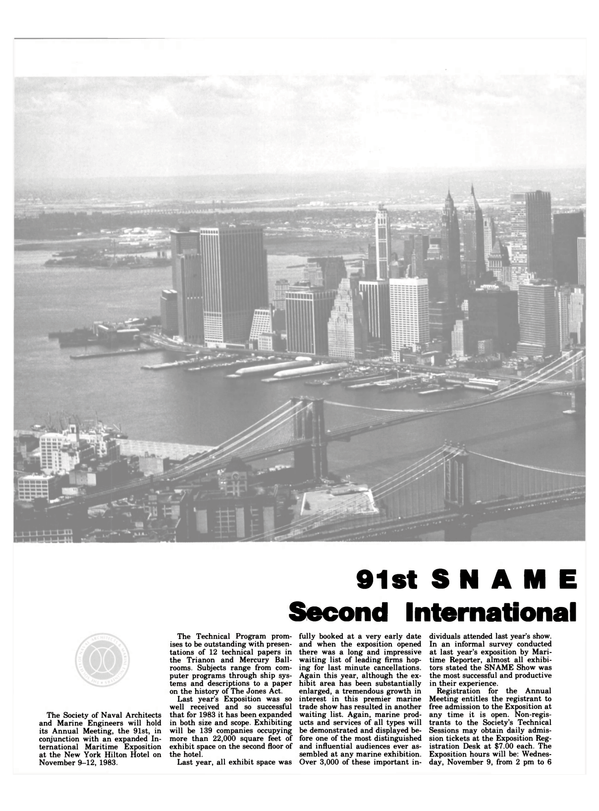 Maritime Reporter Magazine, page 48,  Nov 1983 Society of Naval Architects and Marine Engineers