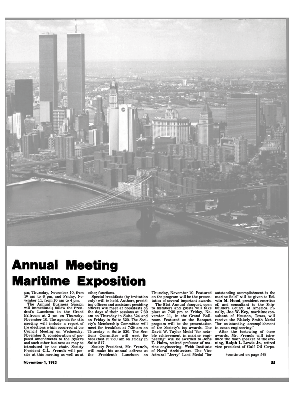 Maritime Reporter Magazine, page 49,  Nov 1983 David W. Taylor