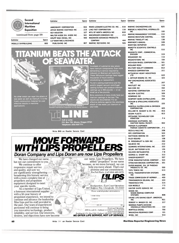 Maritime Reporter Magazine, page 54,  Nov 1983 California