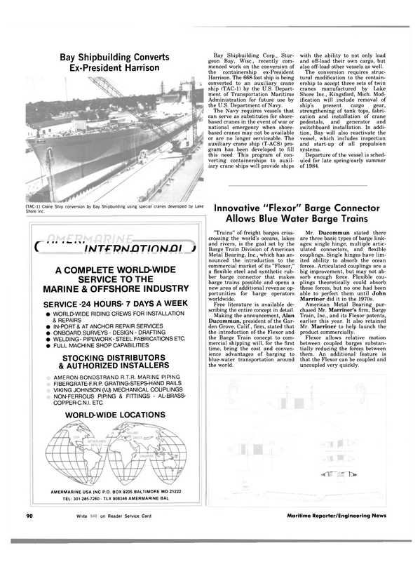 Maritime Reporter Magazine, page 88,  Nov 1983