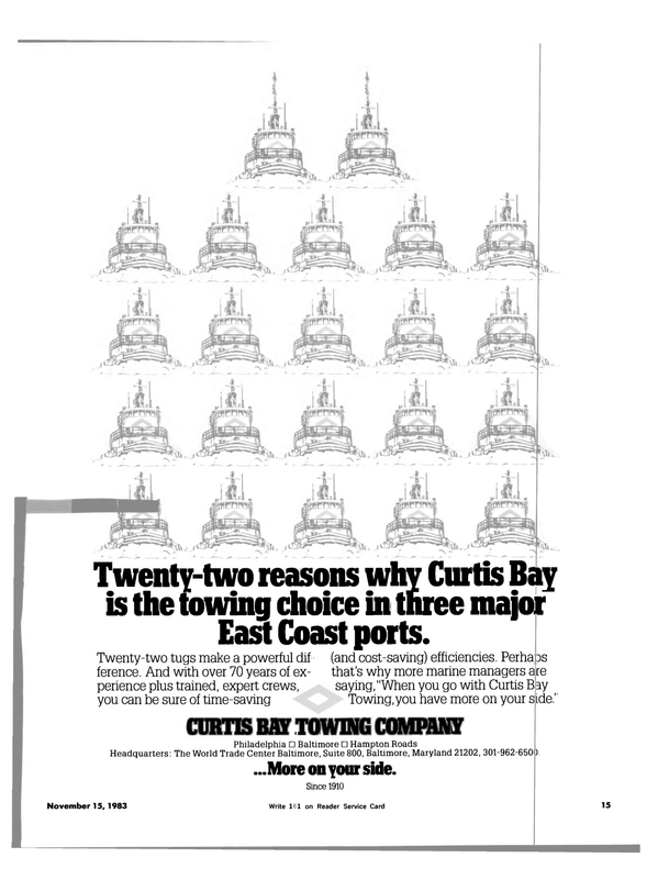 Maritime Reporter Magazine, page 13,  Nov 15, 1983