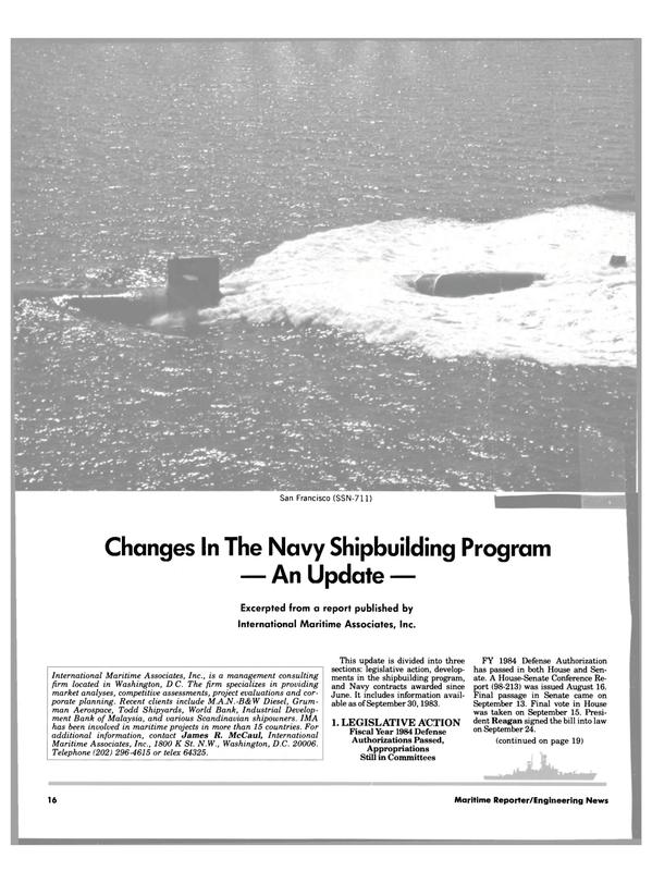 Maritime Reporter Magazine, page 14,  Nov 15, 1983