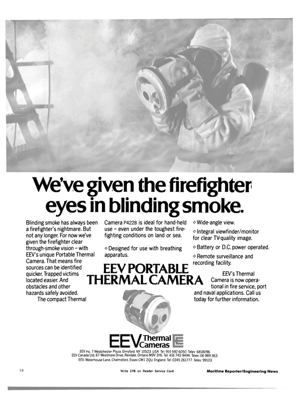 Maritime Reporter Magazine, page 16,  Nov 15, 1983 Portable Thermal Camera