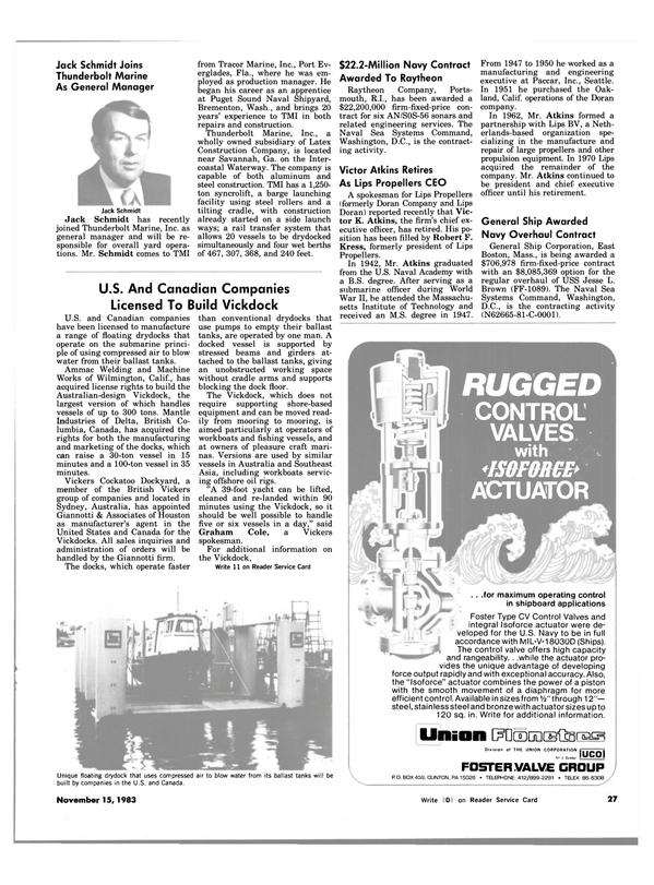 Maritime Reporter Magazine, page 25,  Nov 15, 1983
