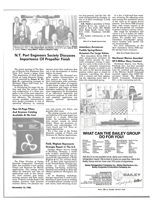 Maritime Reporter Magazine, page 33,  Nov 15, 1983 Ohio