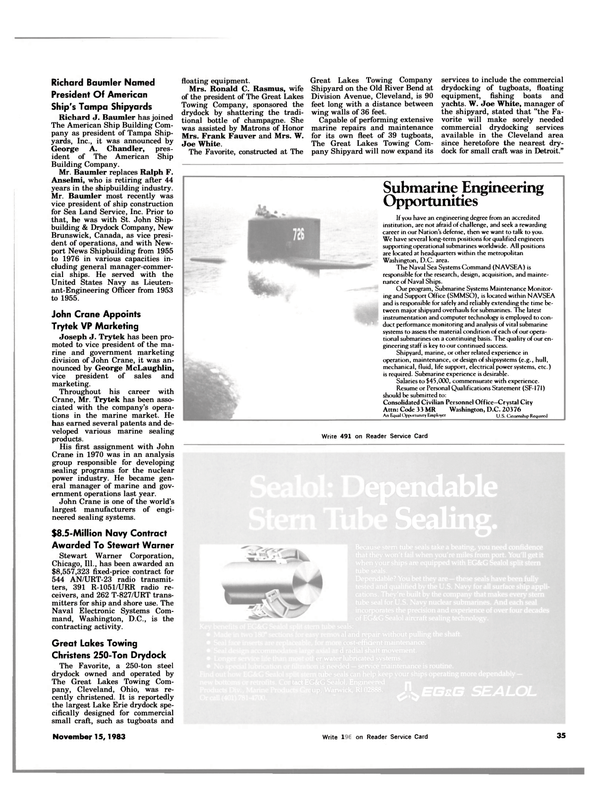 Maritime Reporter Magazine, page 35,  Nov 15, 1983 New Brunswick