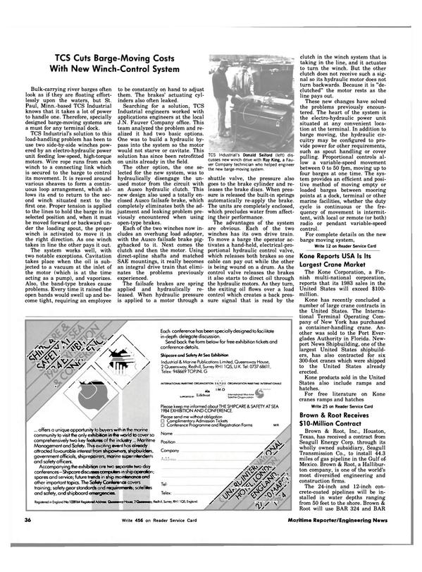 Maritime Reporter Magazine, page 36,  Nov 15, 1983 Florida