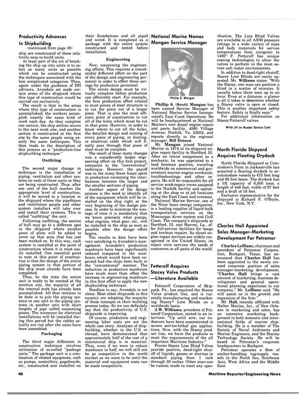Maritime Reporter Magazine, page 40,  Nov 15, 1983 east coast