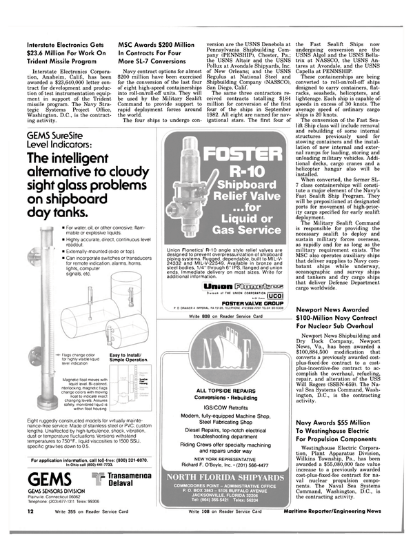 Maritime Reporter Magazine, page 10,  Dec 15, 1983 Connecticut