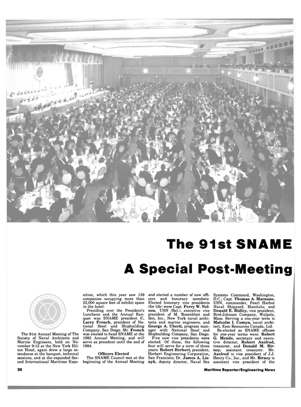 Maritime Reporter Magazine, page 18,  Dec 15, 1983 Donald E. Ridley