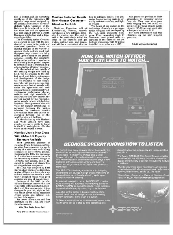 Maritime Reporter Magazine, page 29,  Dec 15, 1983