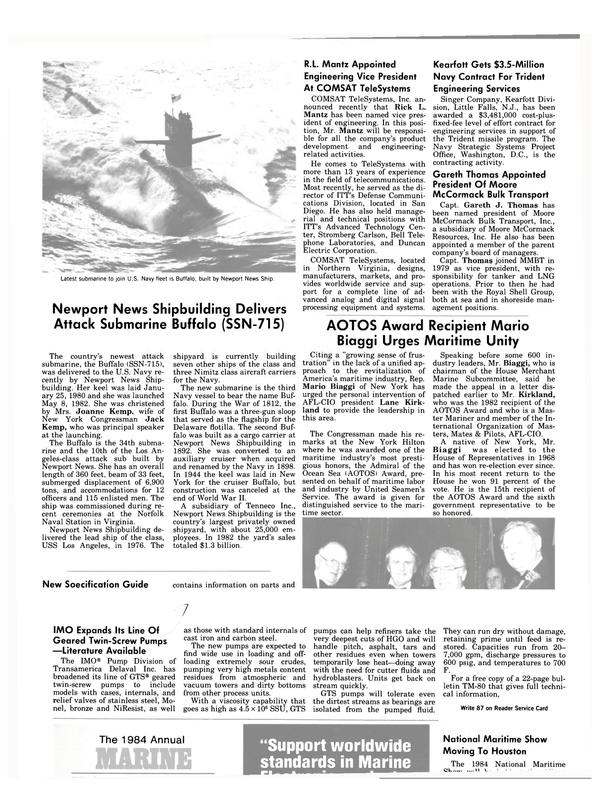 Maritime Reporter Magazine, page 34,  Dec 15, 1983
