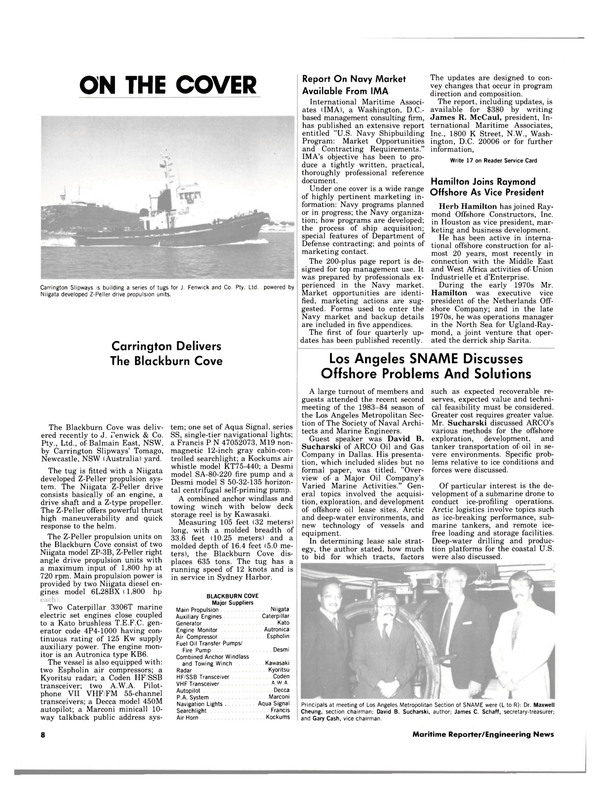 Maritime Reporter Magazine, page 6,  Dec 15, 1983 East Africa