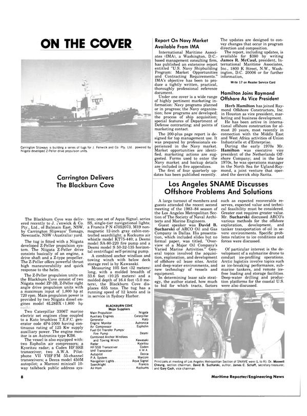 Maritime Reporter Magazine, page 6,  Dec 15, 1983