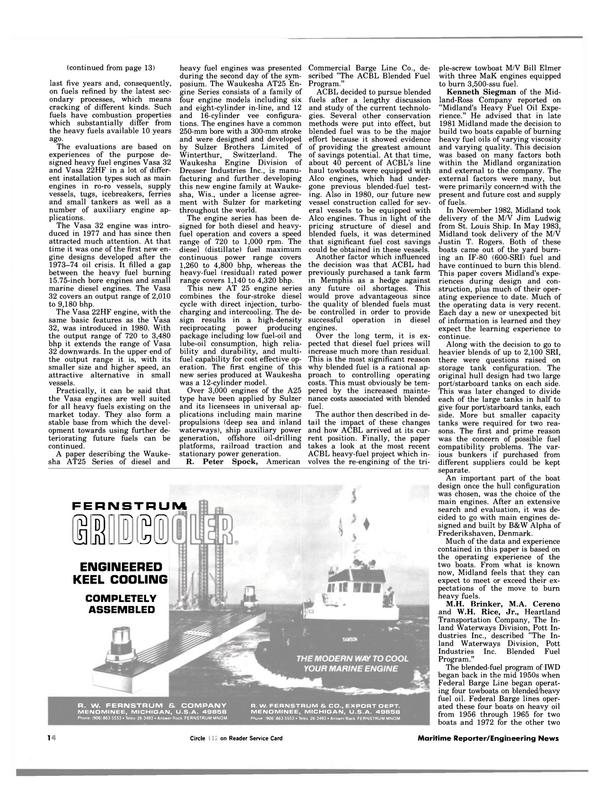 Maritime Reporter Magazine, page 12,  Jan 1984
