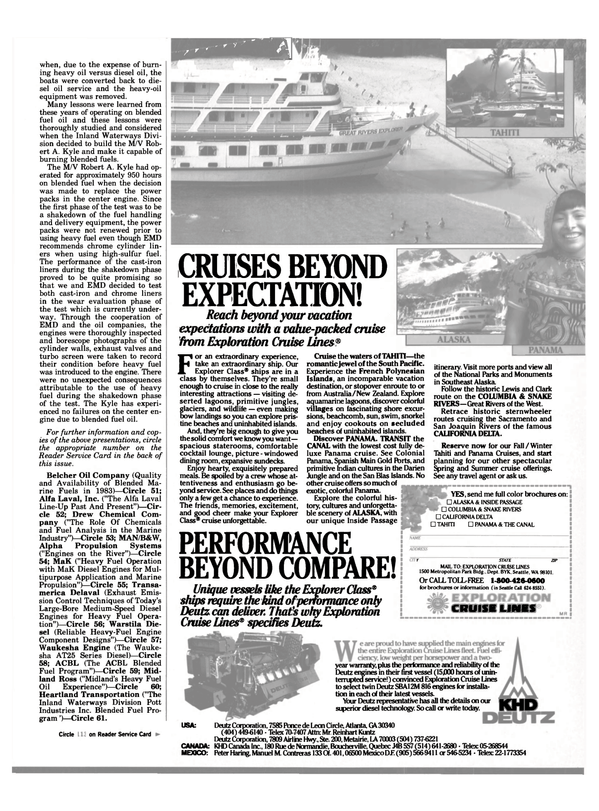 Maritime Reporter Magazine, page 13,  Jan 1984 South Pacific