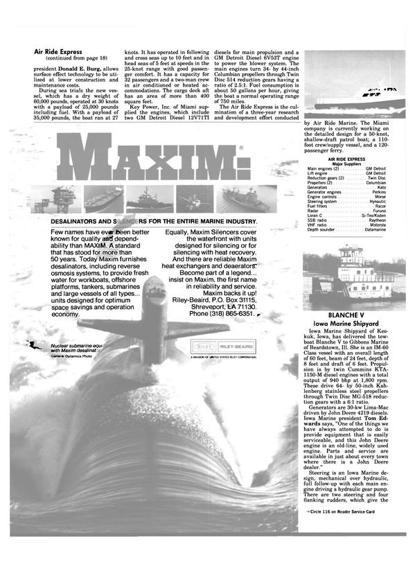 Maritime Reporter Magazine, page 18,  Jan 1984 Iowa