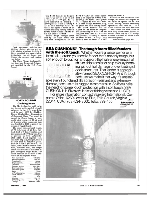 Maritime Reporter Magazine, page 41,  Jan 1984 United States Navy