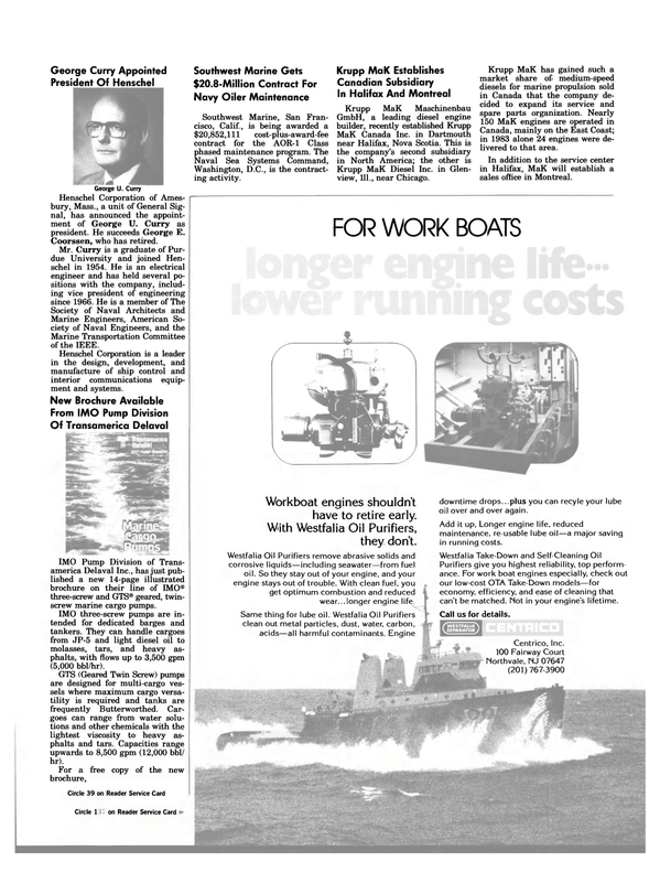 Maritime Reporter Magazine, page 45,  Jan 1984 California