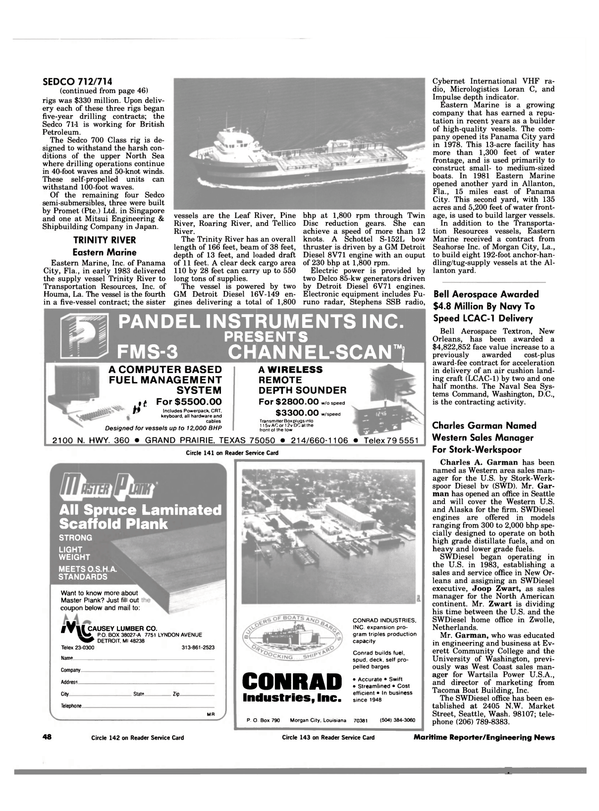 Maritime Reporter Magazine, page 48,  Jan 1984 Texas