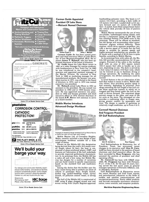 Maritime Reporter Magazine, page 10,  Jan 15, 1984