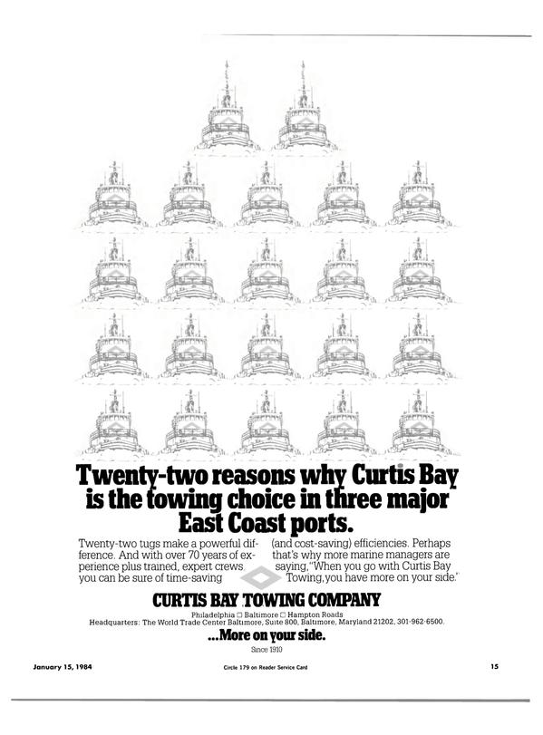 Maritime Reporter Magazine, page 13,  Jan 15, 1984 Curtis Bay