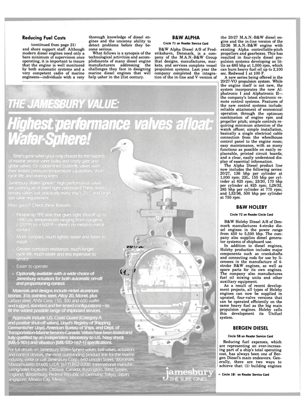 Maritime Reporter Magazine, page 20,  Jan 15, 1984