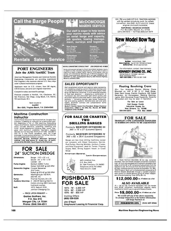 Maritime Reporter Magazine, page 98,  Apr 1984 Missouri