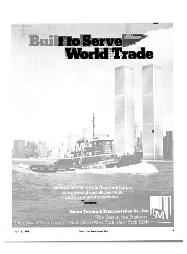 Maritime Reporter Magazine, page 9,  Apr 1984 H World Trade