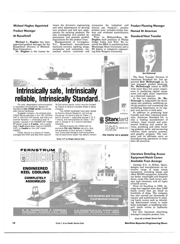 Maritime Reporter Magazine, page 12,  Apr 1984