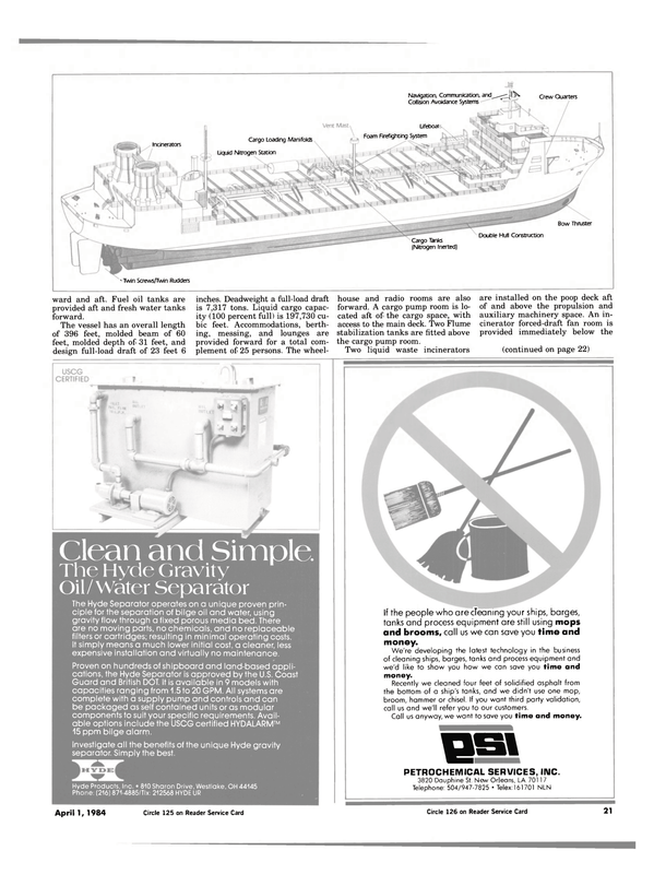 Maritime Reporter Magazine, page 19,  Apr 1984 Hyde