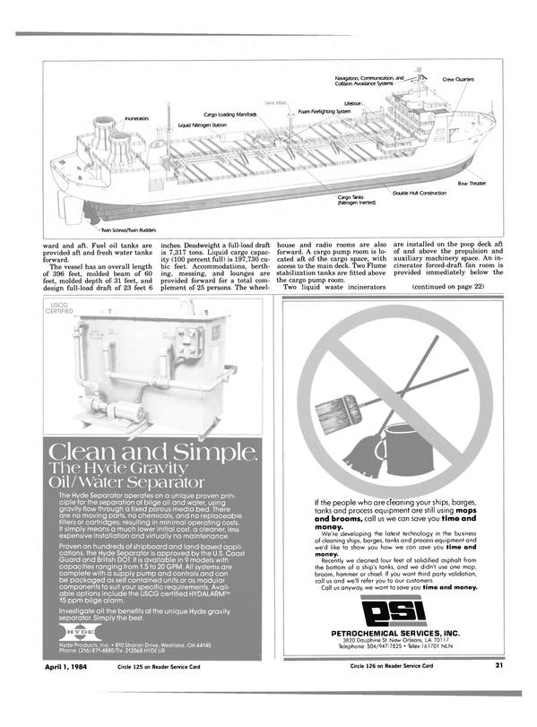 Maritime Reporter Magazine, page 19,  Apr 1984