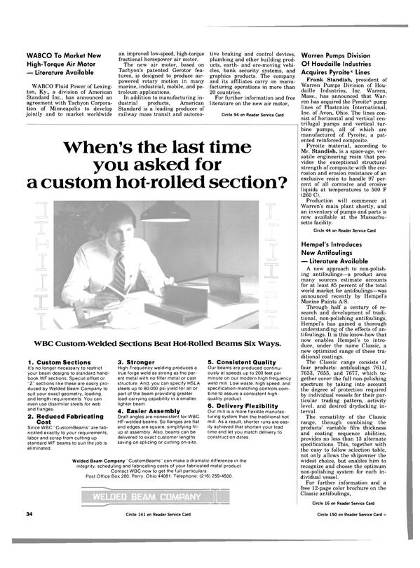Maritime Reporter Magazine, page 32,  Apr 1984