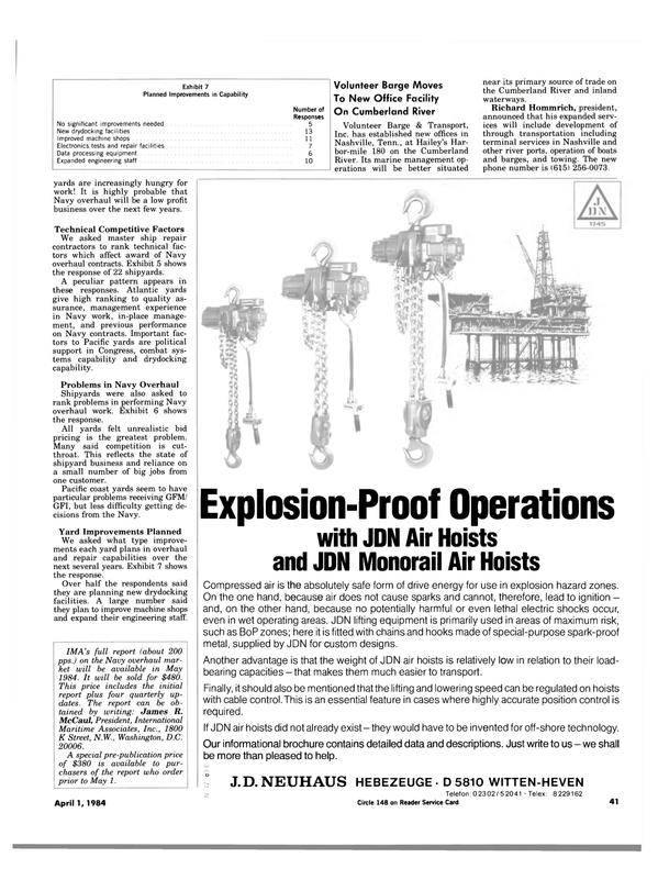 Maritime Reporter Magazine, page 39,  Apr 1984 James R. McCaul