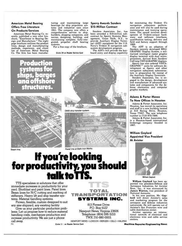 Maritime Reporter Magazine, page 42,  Apr 1984 Texas