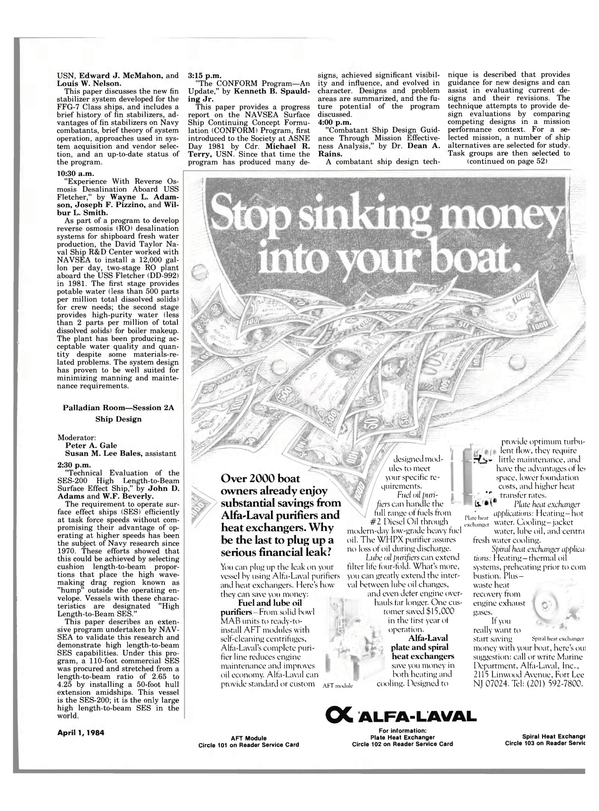 Maritime Reporter Magazine, page 47,  Apr 1984