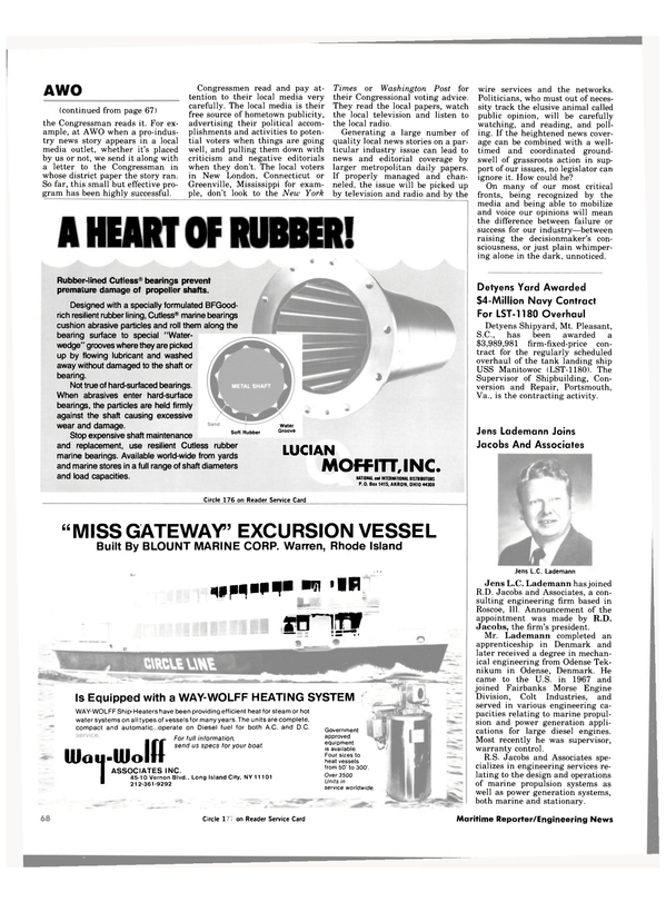 Maritime Reporter Magazine, page 64,  Apr 1984 Connecticut
