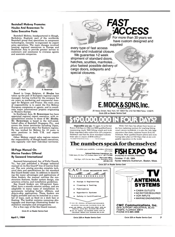 Maritime Reporter Magazine, page 5,  Apr 1984 Massachusetts