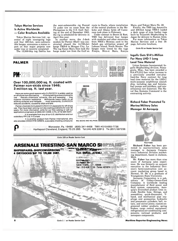 Maritime Reporter Magazine, page 6,  Apr 1984 Michigan
