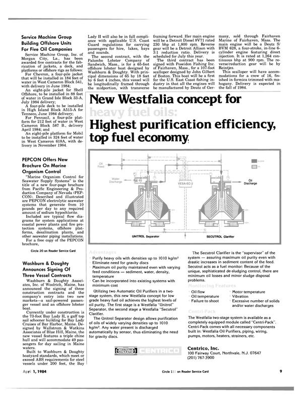 Maritime Reporter Magazine, page 7,  Apr 1984