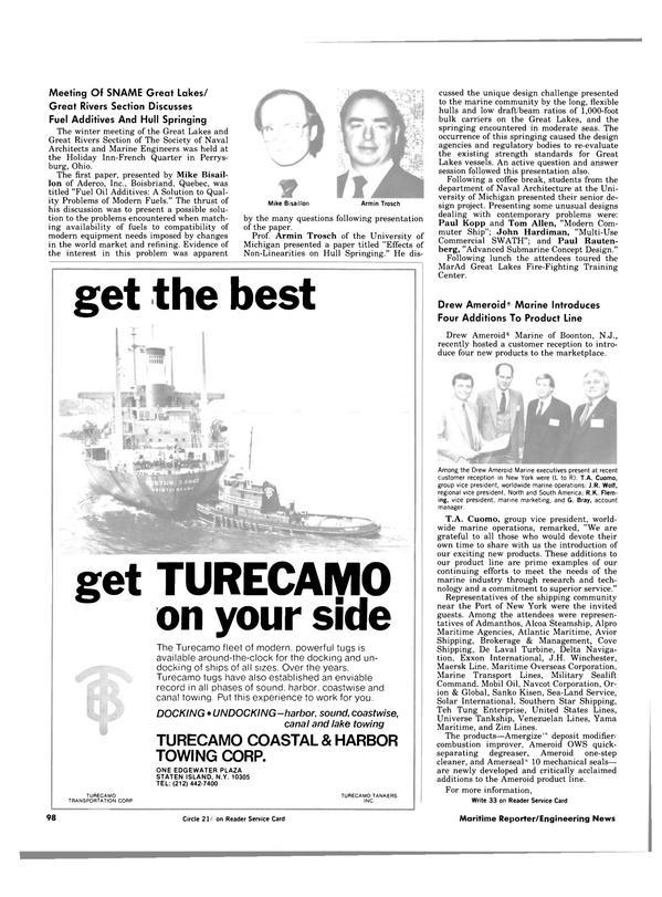 Maritime Reporter Magazine, page 96,  Apr 1984
