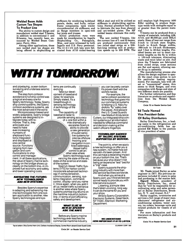 Maritime Reporter Magazine, page 19,  Apr 15, 1984 Mississippi