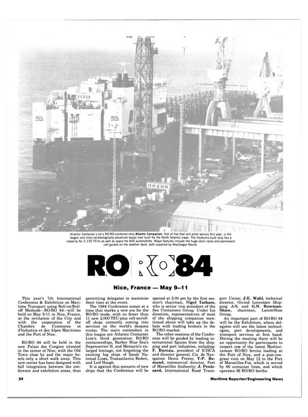 Maritime Reporter Magazine, page 32,  Apr 15, 1984 Shaw