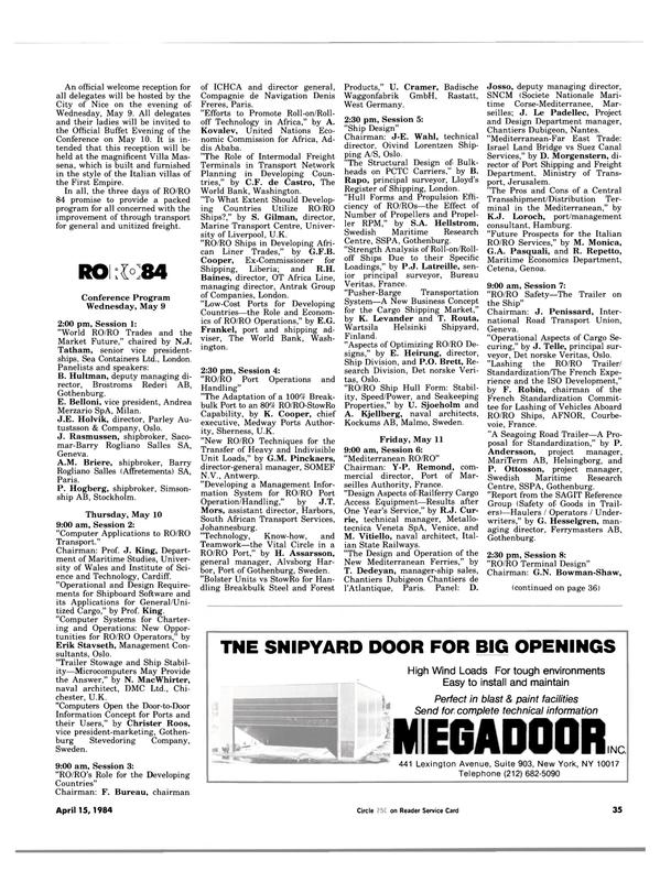 Maritime Reporter Magazine, page 33,  Apr 15, 1984